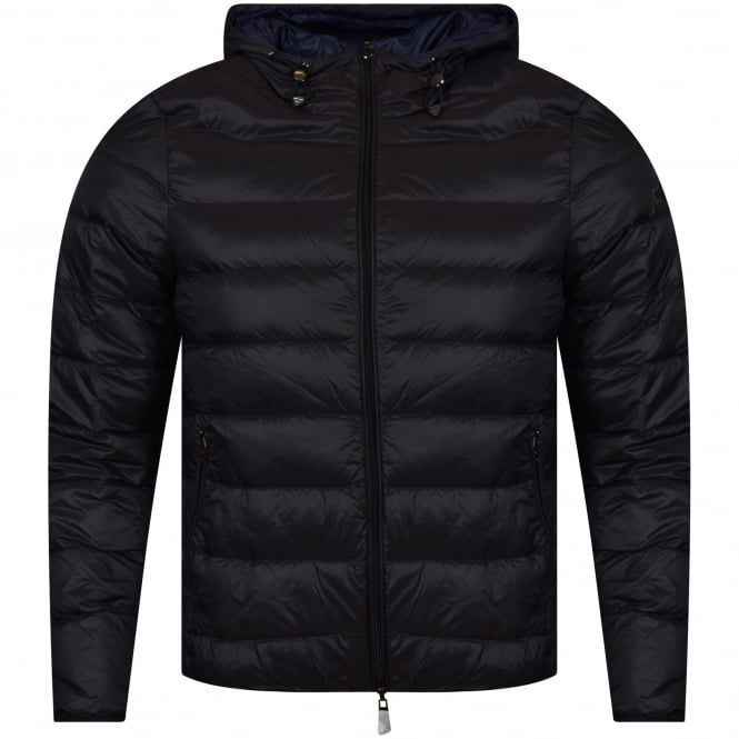 EMPORIO ARMANI Armani Jeans Black/Blue Reversible Hooded Jacket
