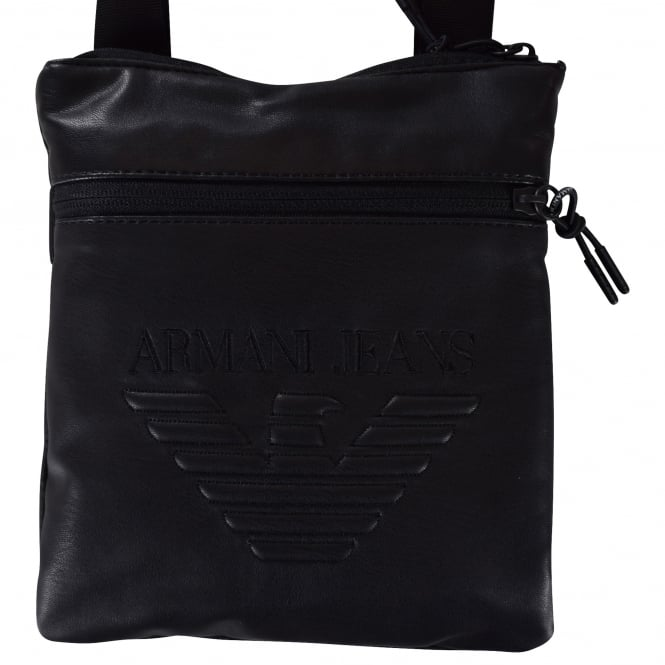 EMPORIO ARMANI Armani Jeans Black Cross Over Body Bag