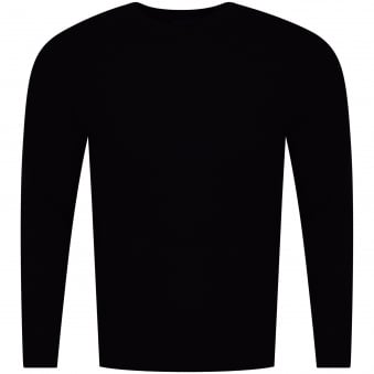 Armani Jeans Black Knitted Logo Jumper