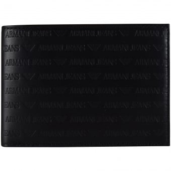 Armani Jeans Black Leather Logo Wallet