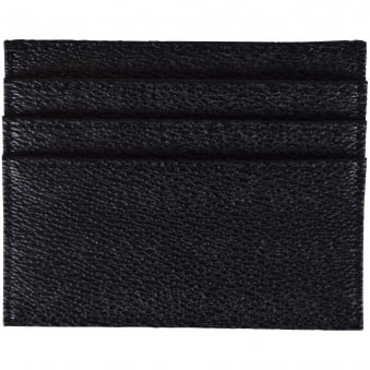 Armani Jeans Black Leather Print Card Holder