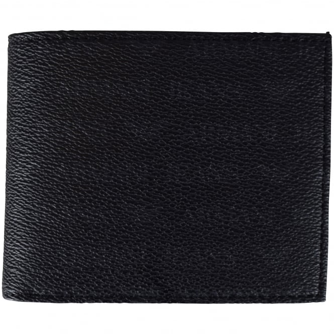 ARMANI JEANS Black Leather Print Wallet