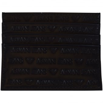 Armani Jeans Black Logo Card Holder