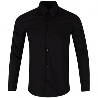 Armani Jeans Black Logo Slim Fit Shirt