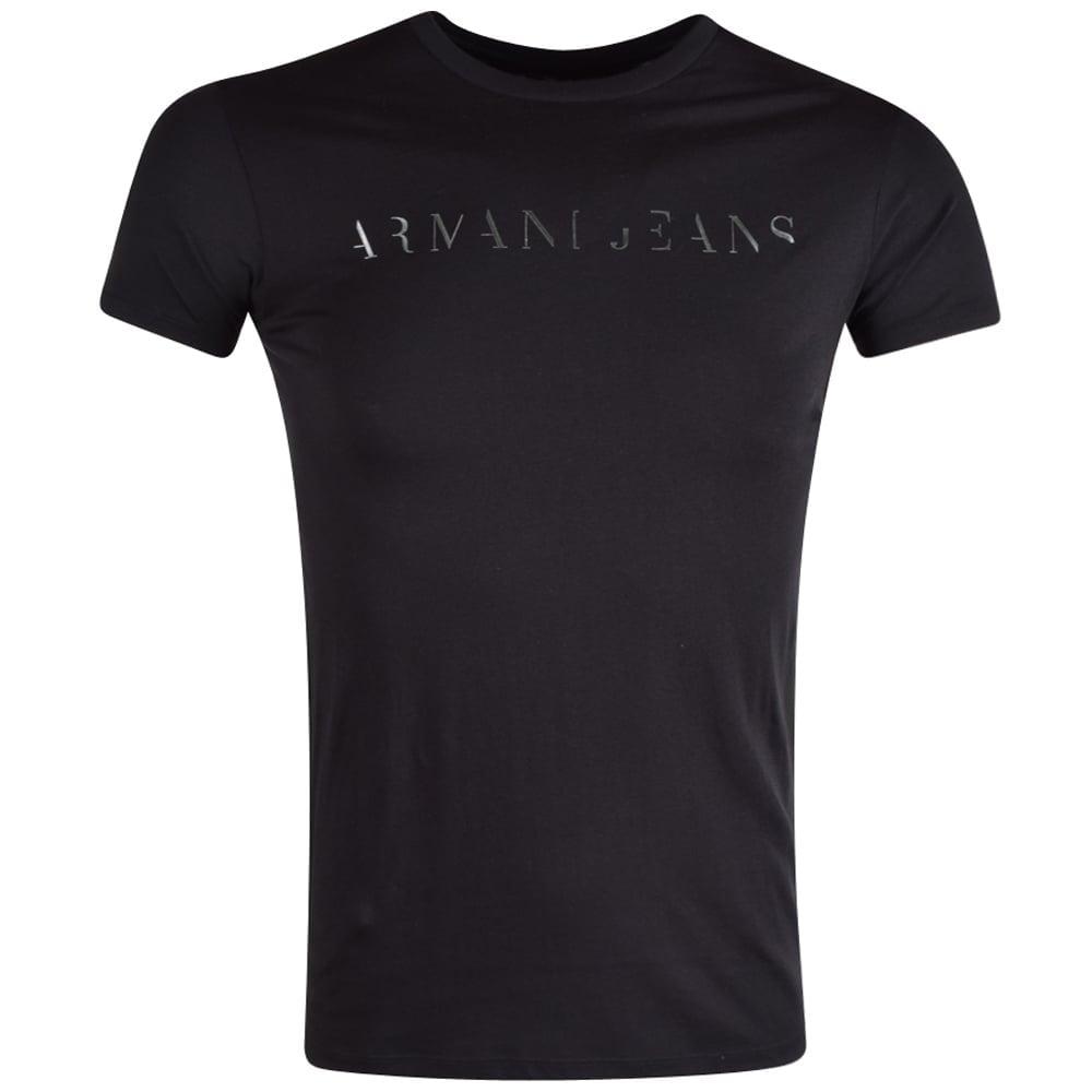 52a9e7e31a Armani Jeans Black Pima Cotton Crew Neck T-Shirt