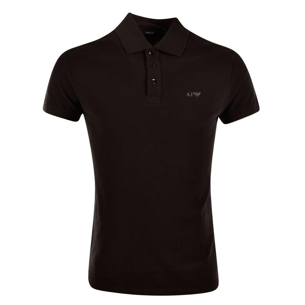 1cb85533 EMPORIO ARMANI Armani Jeans Black Short Sleeved Polo Shirt ...