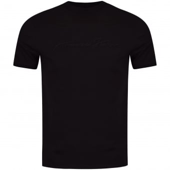 Armani Jeans Black Single Signature Tee