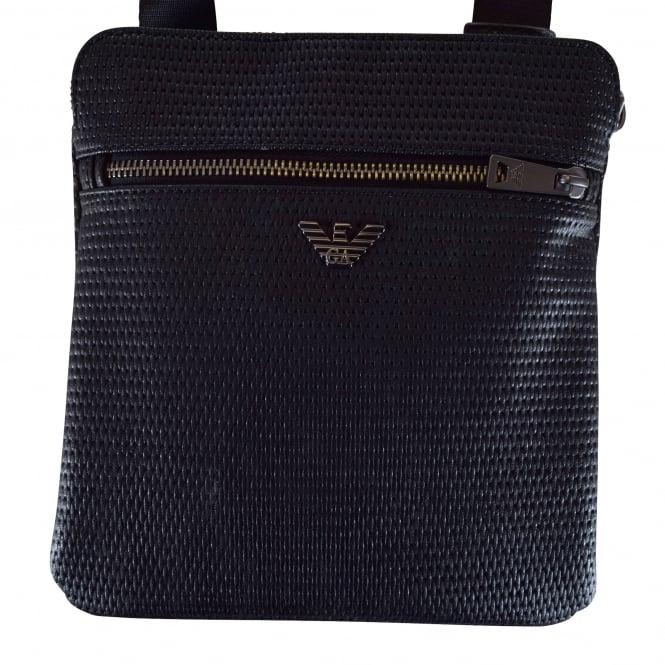 2e9f1b8150 Armani Jeans Black Textured Small Crossbody Bag