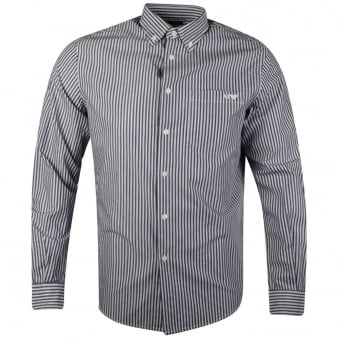 Armani Jeans Blue Azzuro Striped Shirt