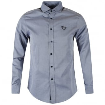 Armani Jeans Blue Long Sleeved Shirt