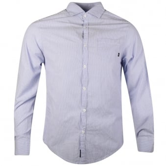 Armani Jeans Blue Riga Striped Shirt