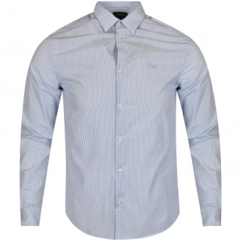 Armani Jeans Blue Stripe Shirt