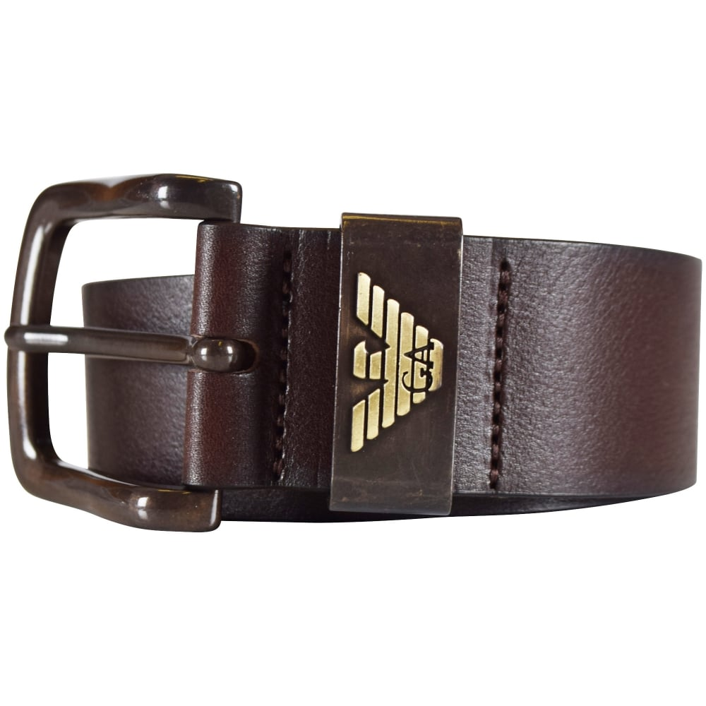 EMPORIO ARMANI Armani Jeans Brown Leather Belt - Men from ...