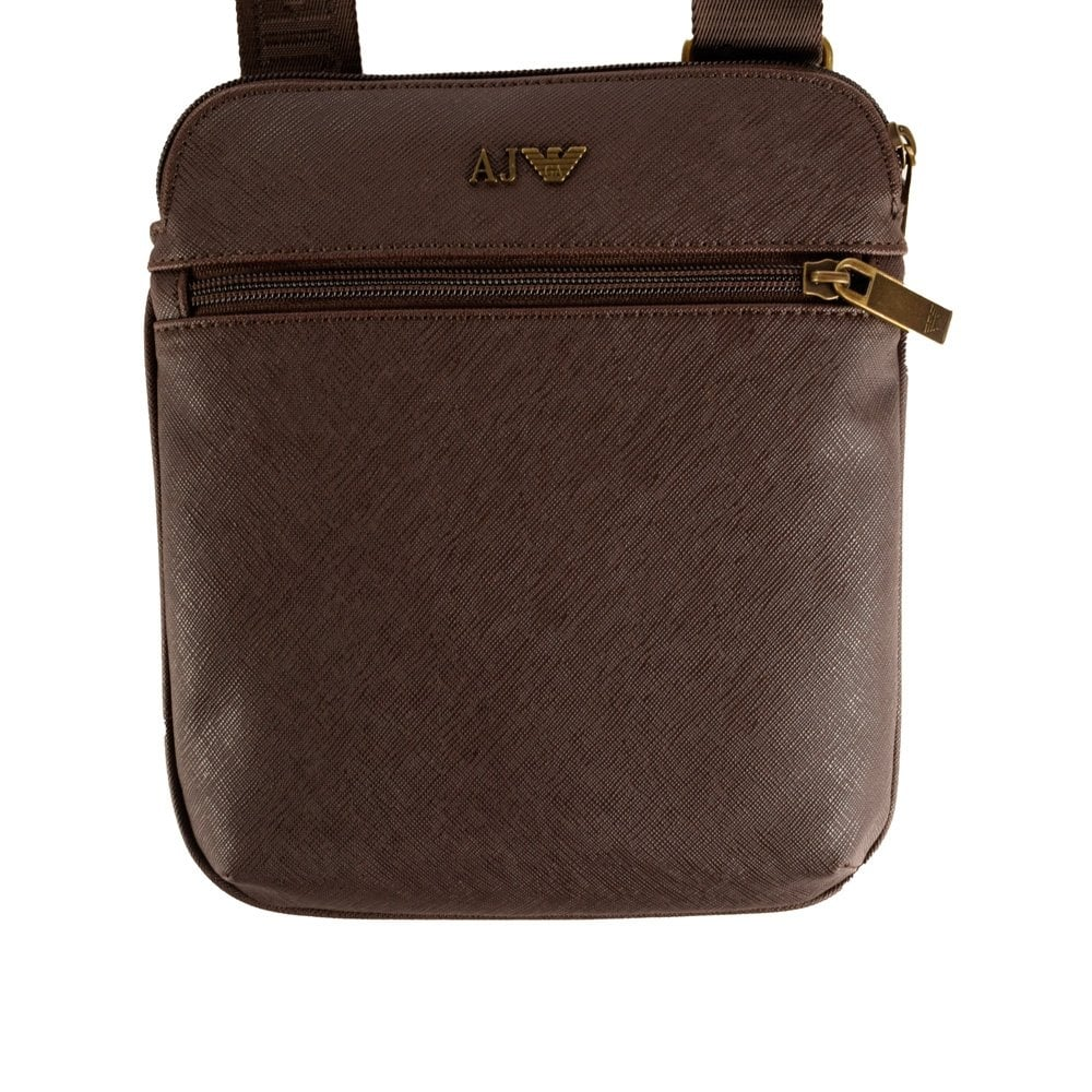 45450e7bef EMPORIO ARMANI Armani Jeans Brown Leather Shoulder Bag - Men from  Brother2Brother UK