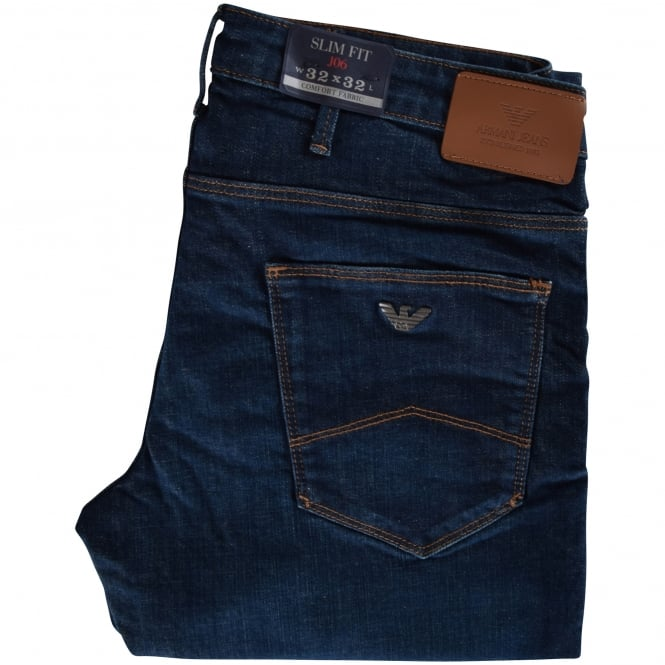 ARMANI JEANS Dark-Wash J06 Slim Fit Jeans