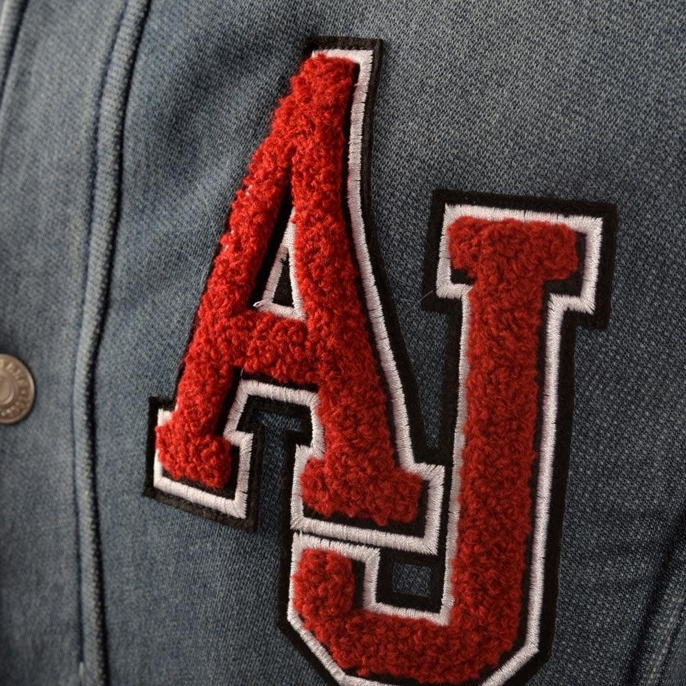 97e33a02b Armani Jeans Denim Towel Mix Bomber Jacket