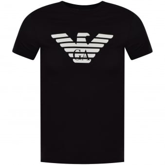 ac7deab62b Emporio Armani Black Short Sleeved Logo T-Shirt