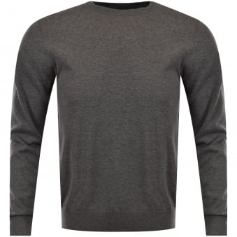 Armani Jeans Grey Logo Knitted Jumper