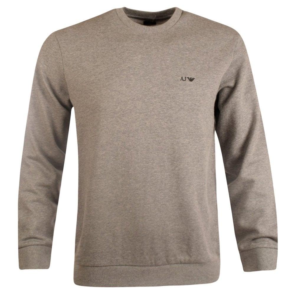 e7308ca857 Armani Jeans Grey Marl Crew Neck Sweatshirt