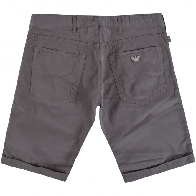 ARMANI JEANS Grey Roll Up Chino Shorts