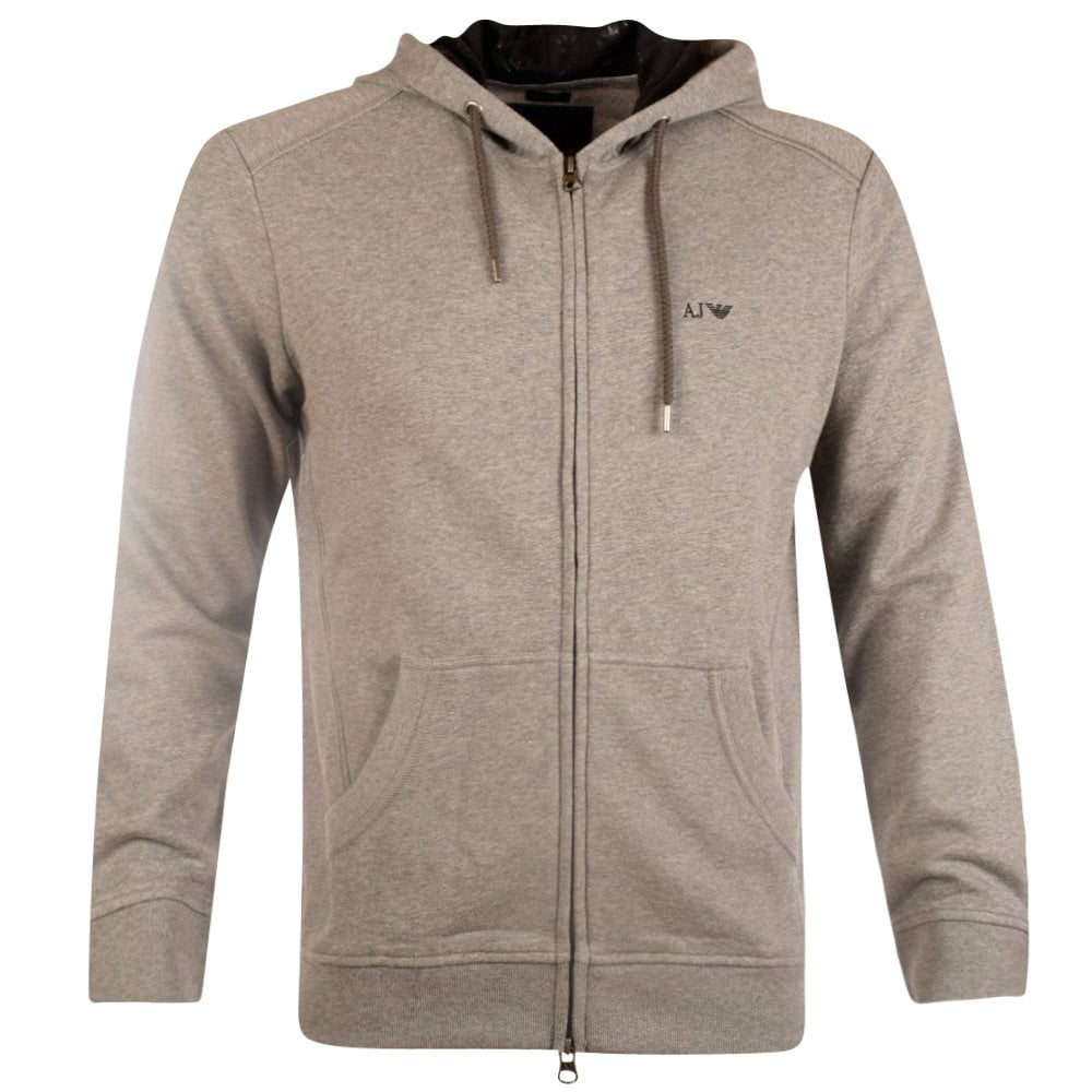 EMPORIO ARMANI Armani Jeans Grey Zip Through Hoodie - Men from ... 6ffbad5a3