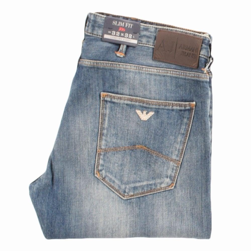 fcdd7d0b1cd EMPORIO ARMANI Armani Jeans J06 Light Wash Slim Fit Jeans - Men from ...
