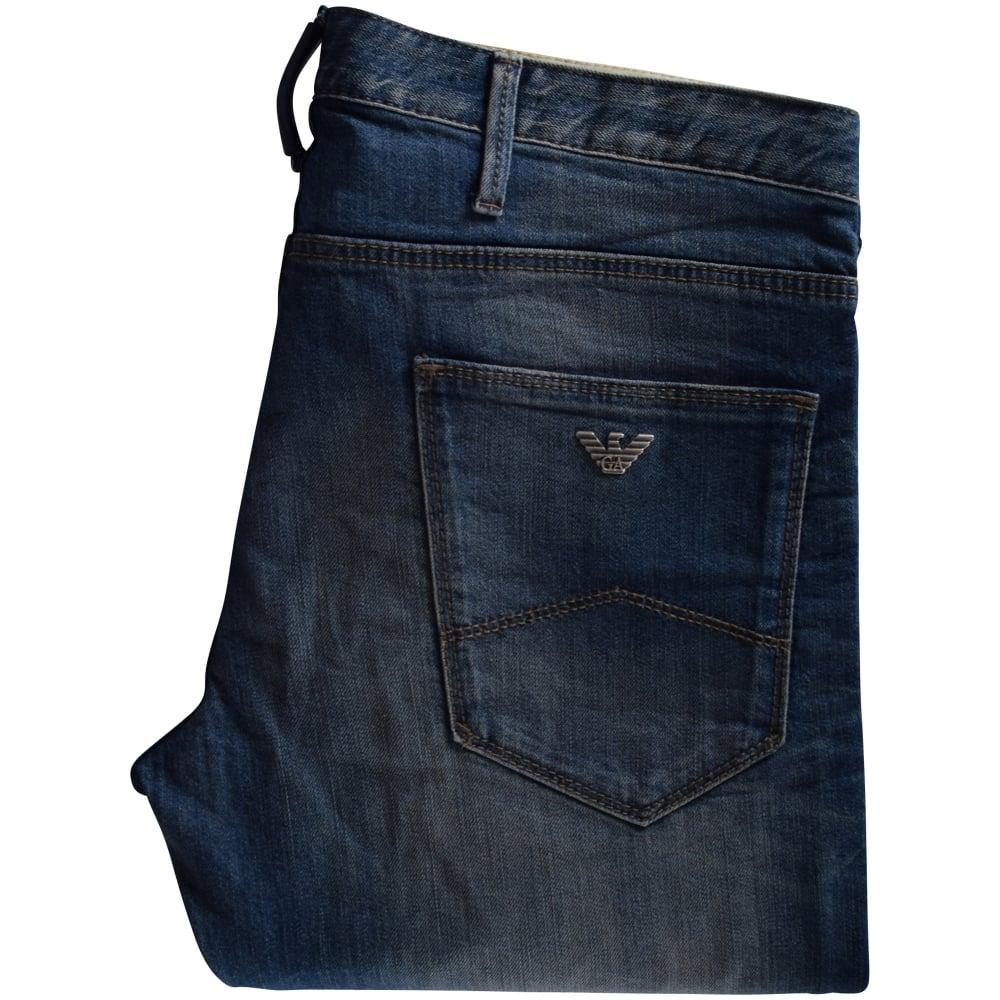 EMPORIO ARMANI Armani Jeans J06 Slim Fit Ripped Denim