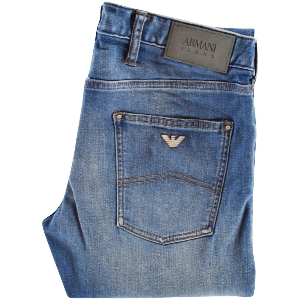 c3e768446ec EMPORIO ARMANI Armani Jeans J20 Blue Extra Slim Denim Jeans - Men ...