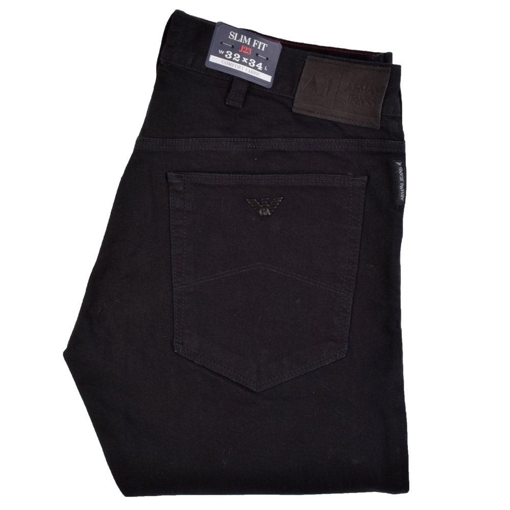 2cae80ea EMPORIO ARMANI Armani Jeans J23 Slim Fit Black Denim Jeans ...