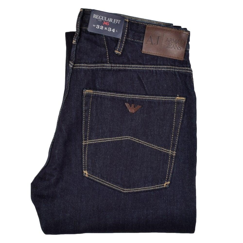 c500960d EMPORIO ARMANI Armani Jeans J45 Regular Fit Dark Wash - Department ...
