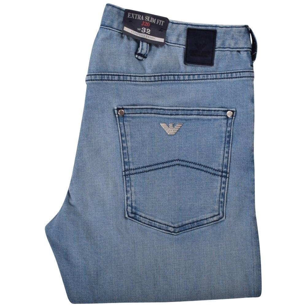 832c0dcd Armani Jeans Light Blue Extra Slim Fit Jeans