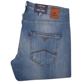 Armani Jeans Light-Wash J06 Slim Fit Jeans