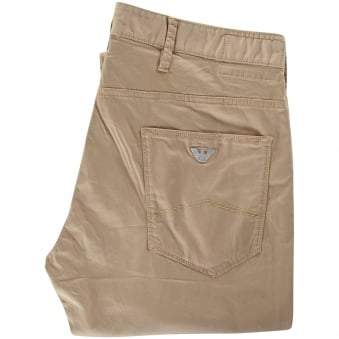 Armani Jeans Mens Beige Chinos