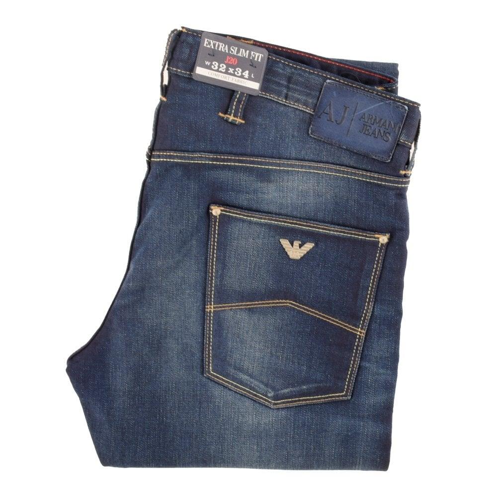 299e75e385 Armani Jeans Mid Wash Comfort Fabric Extra Slim Fit Jeans