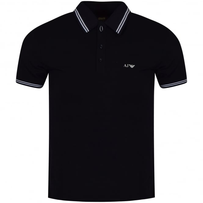 ARMANI JEANS Navy Blue Polo Shirt