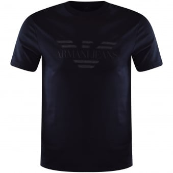 Armani Jeans Navy Front Logo T-Shirt