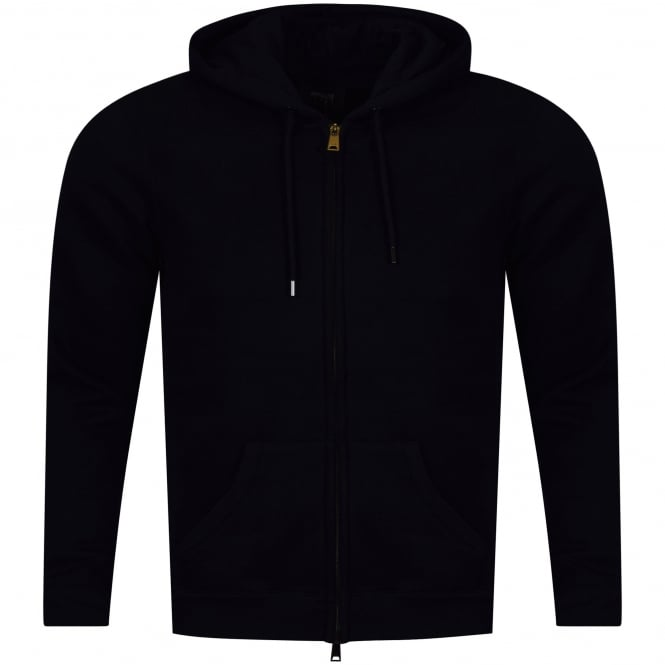 EMPORIO ARMANI Armani Jeans Navy Hood Text Zip Up Hoodie
