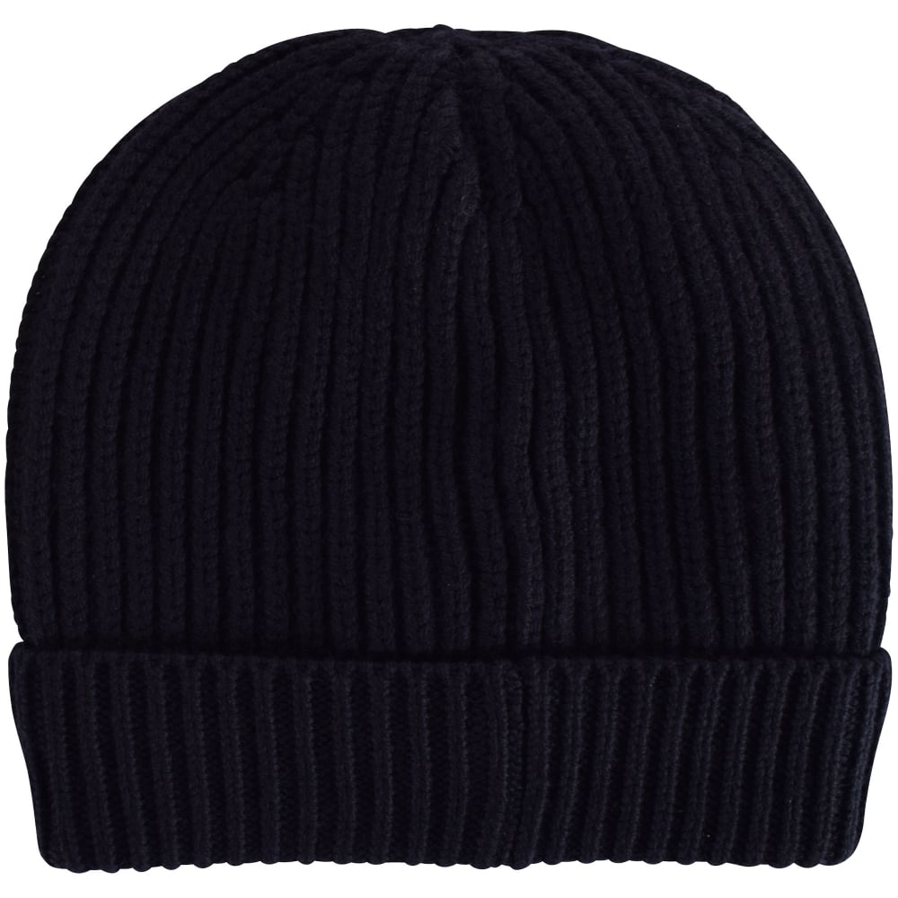 4c980243 EMPORIO ARMANI Armani Jeans Navy Logo Ribbed Beanie Hat - Department ...