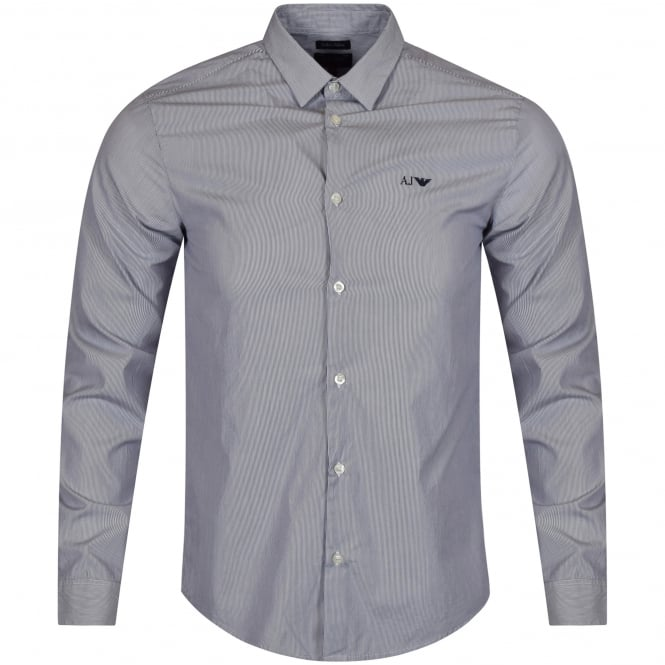 ARMANI JEANS Navy Long Sleeved Shirt