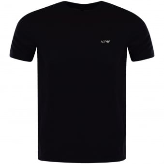 Armani Jeans Navy Short Sleeved Logo T-Shirt