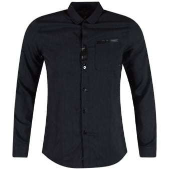 Armani Jeans Navy Tape Pocket Shirt