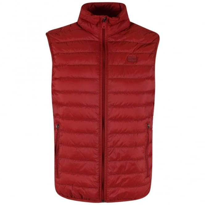 EMPORIO ARMANI Armani Jeans Red Quilted Logo Gilet