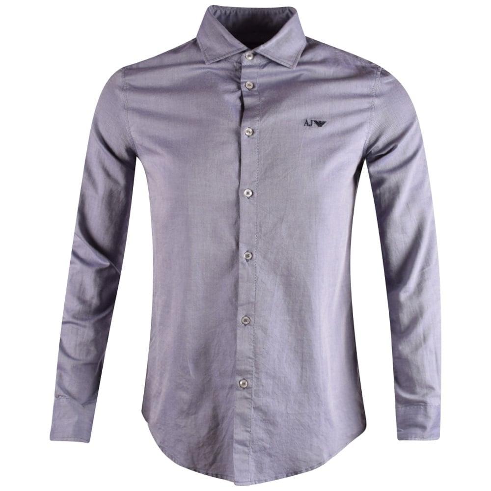 d4e05f3ec6 Armani Jeans Sky Blue Fantasia Long Sleeve Shirt
