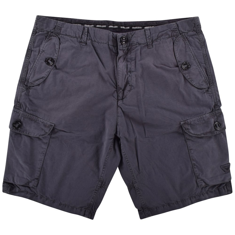 6c5e370184 EMPORIO ARMANI Armani Jeans Washed Black Cargo Shorts - Department ...