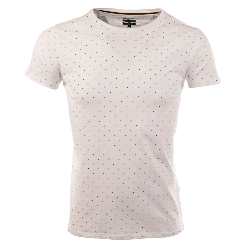 ca896d40 Armani Jeans White All Print Crew Neck T-Shirt