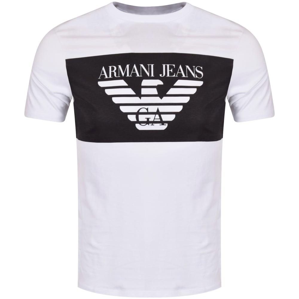 370ebb13 Armani Jeans White Panel T-Shirt