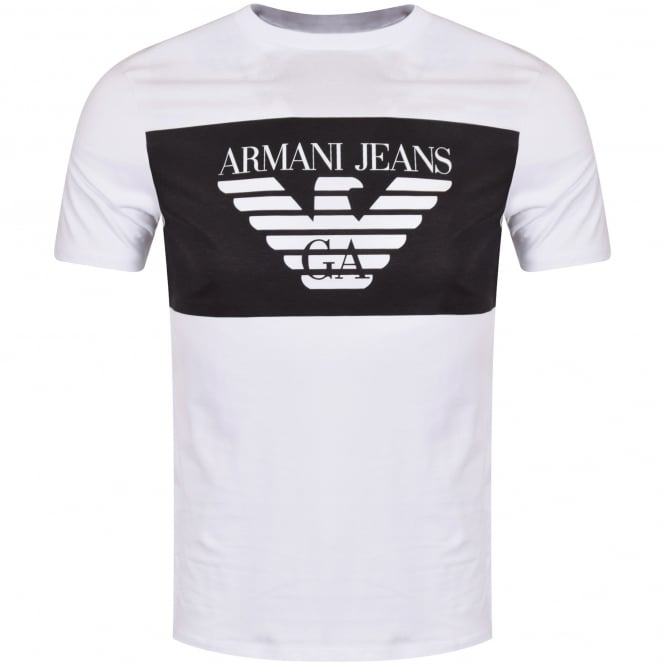 35c2c91f EMPORIO ARMANI Armani Jeans White Panel T-Shirt - Department from ...
