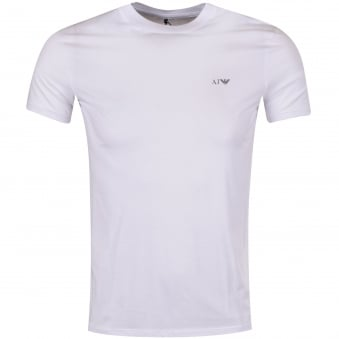 Armani Jeans White Short Sleeve T-Shirt