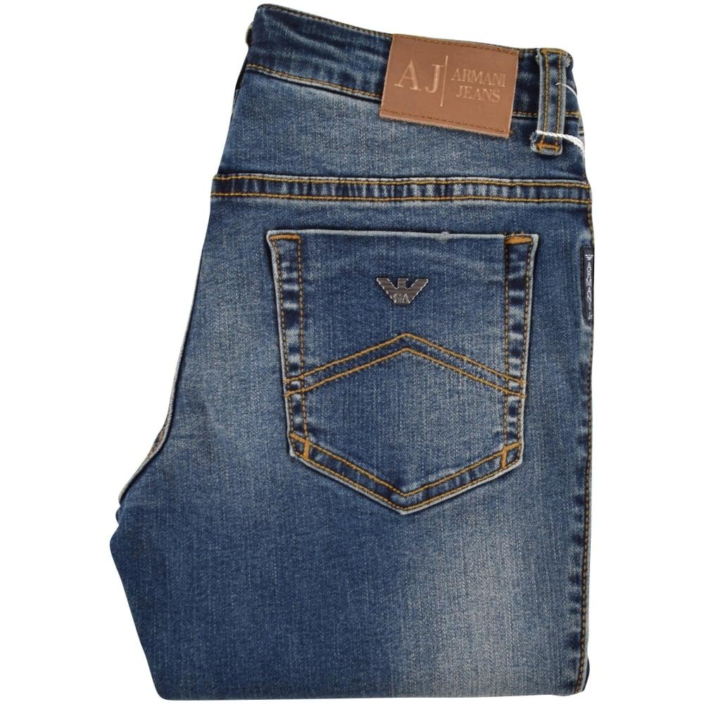 1bb2af137d ARMANI JUNIOR Armani Jeans Junior Light Wash Slim Fit Jeans