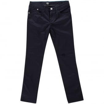 Armani Junior Navy Blue Logo Chino Trousers